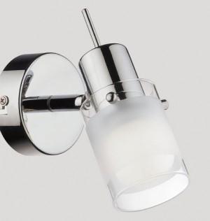 Wand- / Deckenleuchte Metall chrom Glas weiß transparent