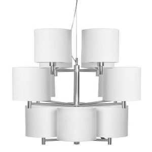 Moderner Kronleuchter mit zwölf Lampenschirmen, Hängelampe Lampenschirme weiß