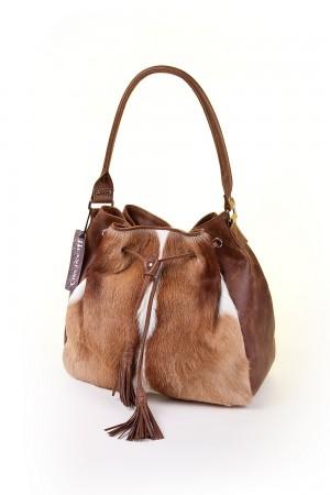 Damentasche aus Springbockfell