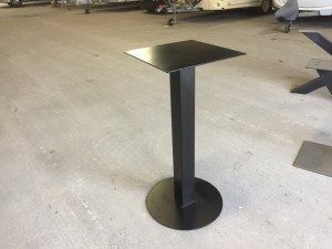 Bartischgestell Metall schwarz, Tischgestell schwarz Metall, Stehtisch-Gestell Metall, Höhe 100 cm