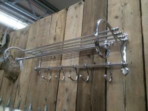Garderobe Aluminium im Landhausstil, Garderobe Farbe Silber