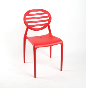 Gartenstuhl rot Kunststoff, Stuhl rot Kunststoff