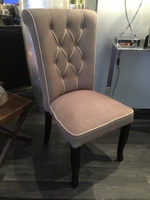 Stuhl Farbe leinen, Stuhl gepolstert Landhaus