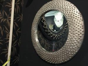 Spiegel , Wandspiegel Aluminium, Durchmesser 60 cm
