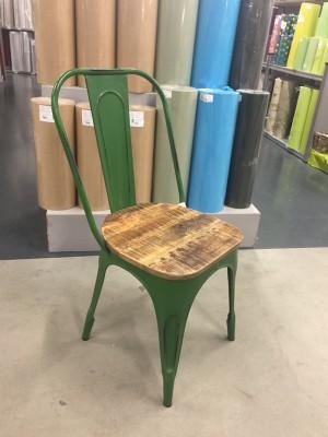 Stuhl grün Metall, Industriedesign Stuhl grün