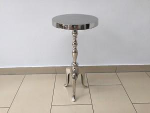 Beistelltisch silber Metall, Aluminium Beistelltisch silber, Durchmesser 29 cm