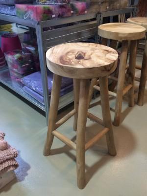 Barhocker aus Massivholz, Barstuhl Sitzhöhe 76 cm