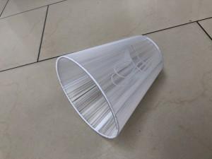 KIemmschirm weiß, Steckschirm weiß für Kronleuchter, Aufsteckschirm weiß, Ø 14 cm