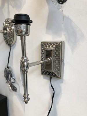 Wandleuchte Silber, Wandlampe für Lampenschirme