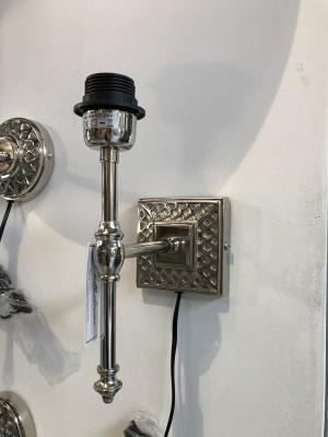 Wandleuchte Silber, Wandlampe rund für Lampenschirme
