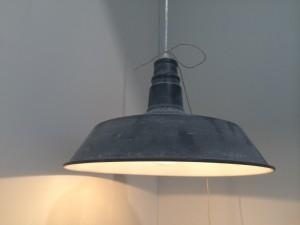 Hängeleuchte aus Metall, Grau vintage, Pendelleuchte, Durchmesser 46 cm