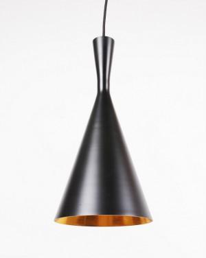 Hängeleuchte Farbe Schwarz-Gold, Pendelleuchte, Durchmesser 19 cm