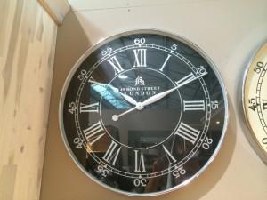 """Wanduhr """"London"""" verchromt, Farbe Schwarz-Chrom,  Durchmesser 60 cm"""