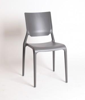 Design Stuhl Kunststoff grau