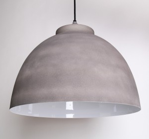 Moderne Pendelleuchte, Farbe grau-weiß, Ø 30 cm