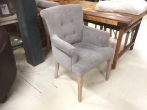 Gepolsterter Stuhl mit Armlehne, Stuhl grau
