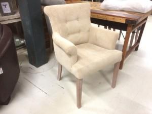 Gepolsterter Stuhl mit Armlehne, Stuhl beige