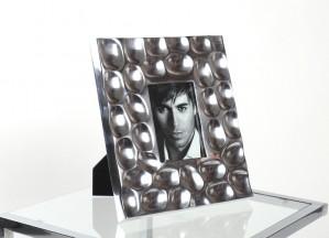 Bilderrahmen aus Aluminium, Bilderrahmen Silber, Maße 12 x 17 cm