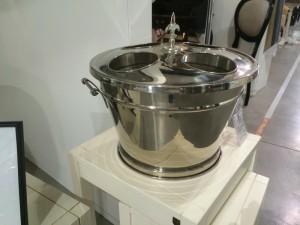 Champagner-Kühler, Farbe Silber, Sektkühler, Weinkühler, Ø 45 cm