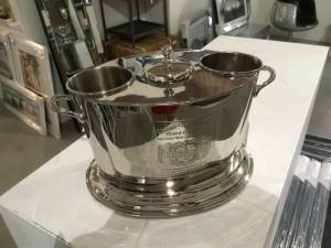 Champagner-Kühler oval, Farbe Silber, Sektkühler, Weinkühler, Ø 45 cm