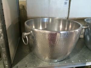 Champagner-Kühler Doppelwandig, Farbe Silber matt, Kühler aus Aluminium, Ø 45 cm