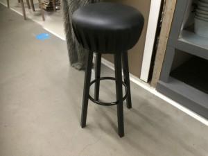 Barhocker schwarz Metallgestell, Barstuhl, Sitzhöhe 76 cm