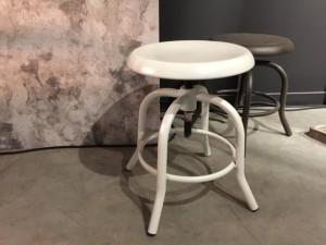 Hocker weiß Industriedesign, Hocker Metall höhenverstellbar weiß