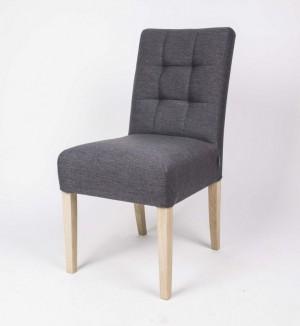 Klassischer Stuhl gepolstert, Farbe grau