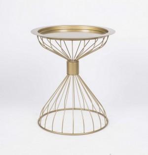 Design Beistelltisch aus Metall in Farbe Gold