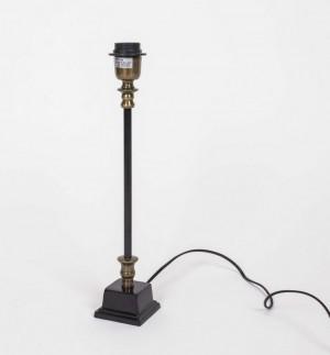 Lampenfuß für eine Tischleuchte, Schwarz-Antikgold, Höhe 43 cm
