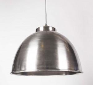 Moderne Pendelleuchte, Farbe Nickel, Durchmesser 45 cm