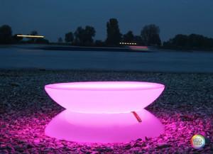 Lounge Tisch LED PRO Accu – Multicolor
