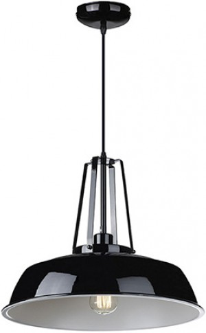 Hängeleuchte aus Metall, Farbe Schwarz-Weiß, Pendelleuchte, Durchmesser 45 cm