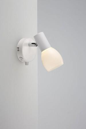LED Moderne Wandleuchte, Farbe weiß, Ø 8 cm