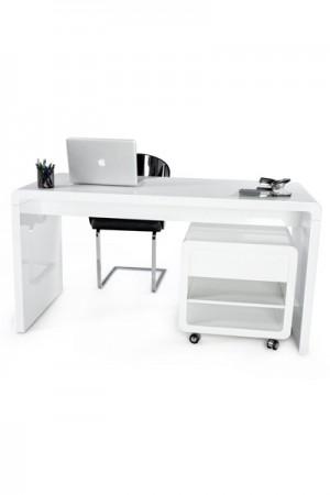 Design Bürotisch in weiß modern