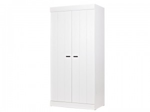 Kleiderschrank Weiß, Schrank, Breite 94 cm
