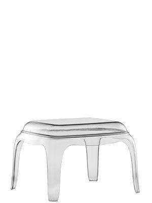 Beistelltisch im Modern-Barockstil, Couchtisch italienisches Design, Farbe transparent