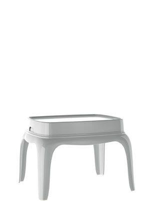 Beistelltisch mit einem Tablett, Tisch-Tablett, Farbe weiß