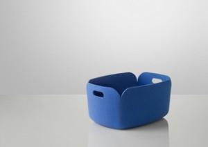 Aufbewahrungskorb aus Filz in blau