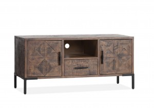 TV Schrank braun, Lowboard braun Landhausstil, Breite 130 cm