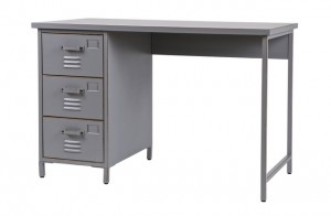 Schreibtisch grau Metall, Schreibtisch Metall grau, Tisch grau Metall