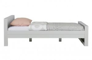 Bett grau Holz, Kinderbett Massivholz grau, Bett Holz grau