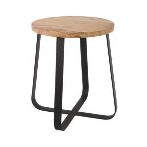 Hocker schwarz Industriedesign, Hocker Metall Industrie schwarz, Sitzhöhe 43 cm