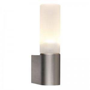 LED Moderne Badwandleuchte, Farbe Stahl matt, Ø 10,7 cm