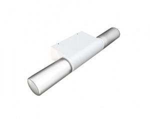 LED Moderne Badwandleuchte, Farbe Stahl matt, weiß, Ø 5,5 cm