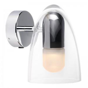 LED Moderne Badwandleuchte, Farbe chrom, Ø 14 cm