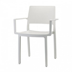 Stuhl mit Armlehne, Indoor, Outdoor, leinen, aus Kunststoff, Stapelbar