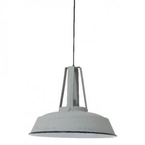 Hängelampe grau vintage im Industriedesign, Pendelleuchte grau Landhausstil, Durchmesser 42 cm