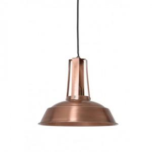 Hängeleuchte kupfer-antik im Industriedesign, Pendelleuchte Landhausstil, Durchmesser 34 cm