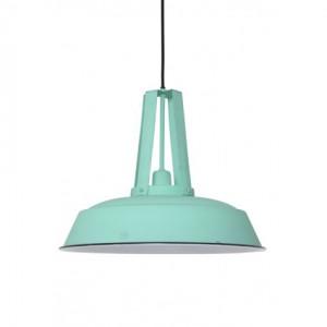 Hängelampe hellgrün im Industriedesign, Pendelleuchte Landhausstil, Durchmesser 42 cm